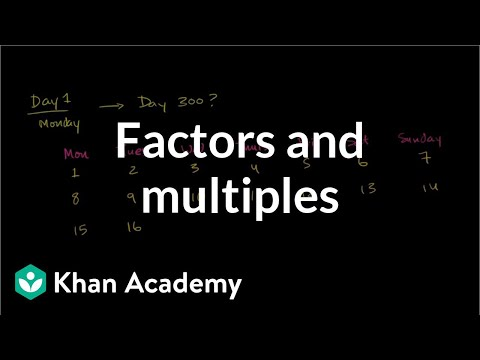 Factors and multiples: days of the week (video) | Khan Academy