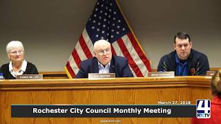 Rochester City Council Meeting - March 2018