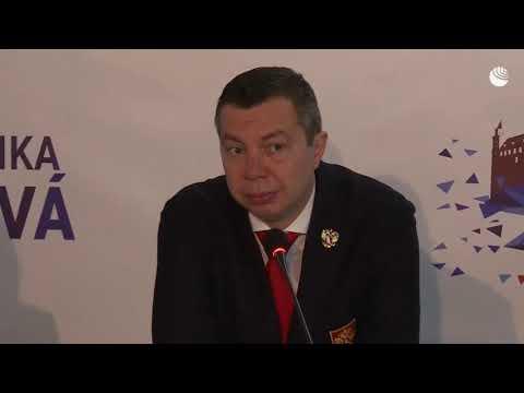 Пресс-конференция сборных России и Финляндии после полуфинала ЧМ по хоккею