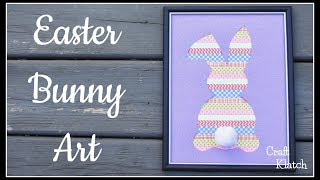 Easter Bunny Art DIY ~ Easter Crafts ~ Craft Klatch