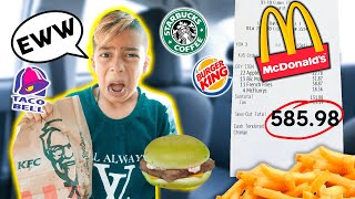LETTING THE PERSON IN FRONT OF ME DECIDE WHAT I EAT!! *BAD IDEA* 🤢😭 | The Royalty Family