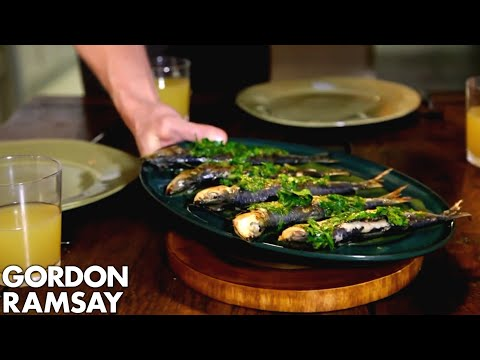 Orzo Pasta Salad with Grilled Sardines | Gordon Ramsay