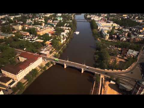 Вологда, пролеты над исторической частью
