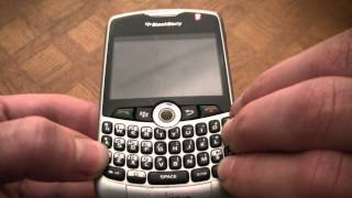 How To Reboot And Fix A Frozen Blackberry 8330 Smart Phone
