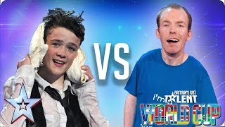 QUARTER-FINALS: George Sampson vs Lost Voice Guy | Britain's Got Talent World Cup 2018 - Video Youtube