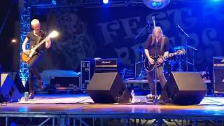 Angel Witch - Free man+Angel Of Death - live Festa Bikers Cologno Al Serio (BG) 25/08/17 italy