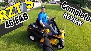 Cub Cadet steering wheel zero turn mower review - RZT S46 FAB