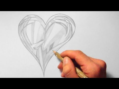 herz abstrakt zeichnen im zeitraffer heart abstract drawing in fast motion hd zeichnen lernen. Black Bedroom Furniture Sets. Home Design Ideas