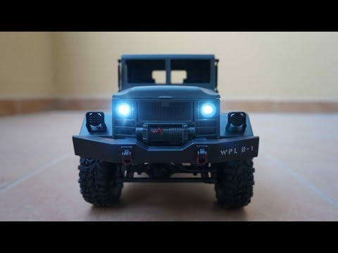 WPL Model Super Scale 4WD RC Military Truck Unboxing Review