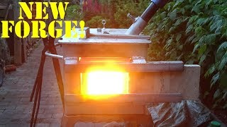 My New Homemade GAS FORGE!!