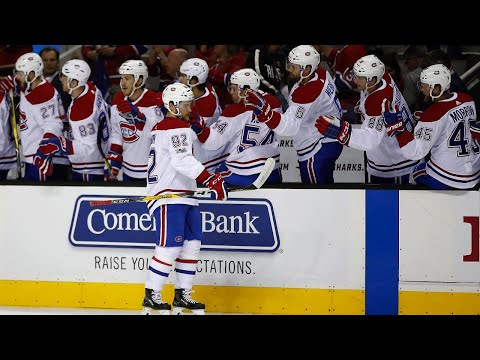 Drouin goes top corner to give Canadiens response for Sharks