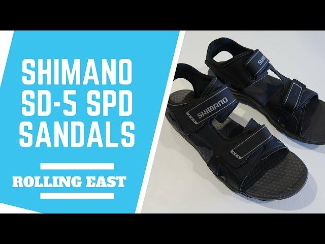 Видео Велосандали Shimano SH-SD5G серые