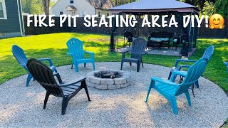 BACKYARD FIRE PIT SEATING AREA DIY! AND SHOPPING At CHRISTMAS TREE SHOPS, HOME DEPOT And LOWES!