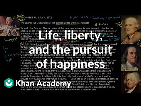 Life liberty and the pursuit of happiness video