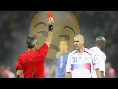 The Day Zinedine Zidane Ended His Player Career - RED CARD & LOSS IN 2006 WORLD CUP FINAL