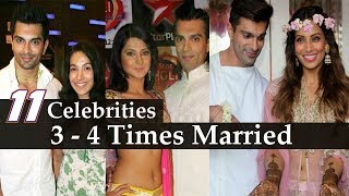 Bollywood Marriages - 11 Bollywood Stars Who Married 3 Or More Times | Secret Marriage | Full List |
