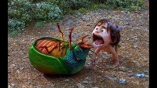 原始社会时期,人类为了生存,连和他们体型一样大的甲虫都吃