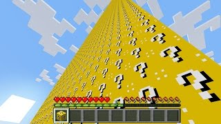 BROKE 10000 LUCKY BLOCKS ~ GIANT PILLAR OF LUCKY BLOCKS MINECRAFT | LUCKY BLOCKS IN MINECRAFT