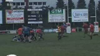 preview picture of video 'Rugby : L'US Tours bat Vierzon 26 à 14'