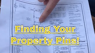 Metal Detecting - Finding the corner pins of your property.
