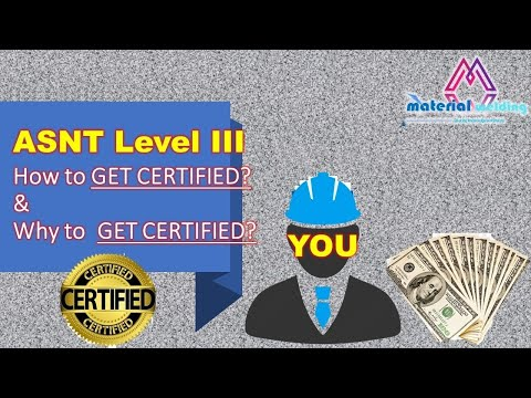 How to get ASNT Level III and why to be ASNT Level III - YouTube
