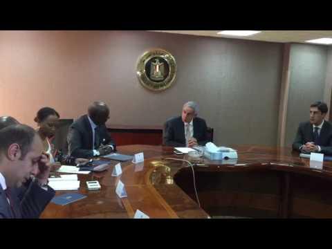 لقاء الوزير/طارق قابيل بالمبعوث الرسمى للإتحاد الإفريقى لصندوق السلام