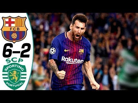 Barcelona vs Sporting Lisbon 6-2 - All Goals & Highlights
