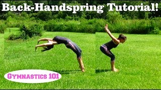 Back-Handspring Tutorial With Lydia The Self-Taught Gymnast