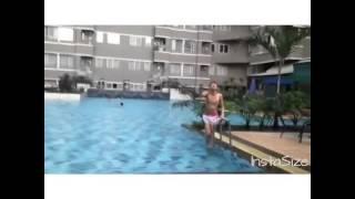 swimming pool at apartemen sudirman park persi yoenayoutube