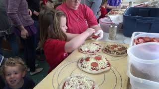 Columbia Elementary and Grace Preschool Pizza Making at Nubiano's - 5-7-19