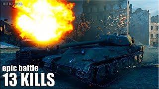 Жесть на ИС-М 🌟 13 фрагов 🌟 карта: Руинберг World of Tanks лучший бой на тт 8 уровень СССР