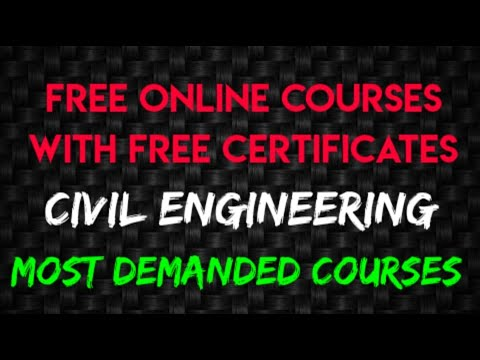 Civil Engineering Free Online Courses || Free Certificates for ...