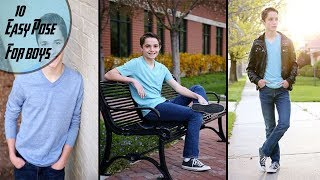 10 easy photo poses for boys to help you take great pictures