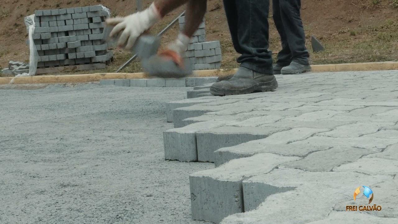 Santuário Frei Galvão inicia nova pavimentação