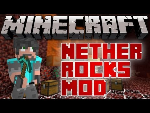 Minecraft Mods - Nether Rocks Mod - 6 New Ores in the Nether!