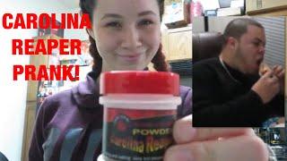 CAROLINA REAPER PEPPER IN BRYAN'S FOOD PRANK!