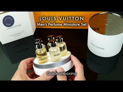 Louis Vuitton Men's Perfume/Cologne Fragrance Miniature Set (5) 2018 – Quick Unboxing