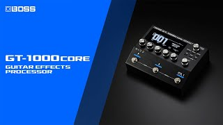 Boss GT-1000CORE Guitar Effects Processor Video