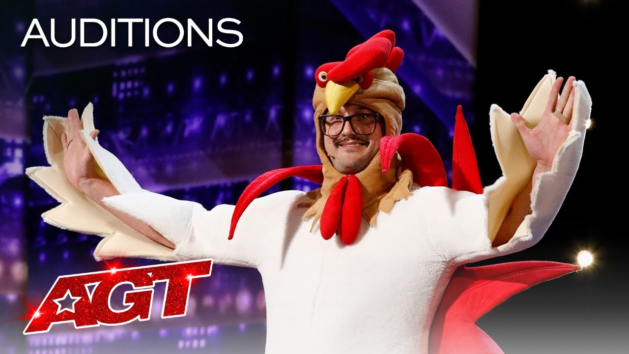 Hilarious Chicken Tells Funny Jokes! Eggcellent Puns Galore! - America's Got Talent 2020 thumbnail