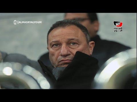 الخطيب يتابع مباراة الأهلي وسموحة بصحبة أسامة حسني بمقصورة «برج العرب»