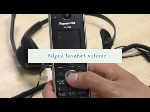Panasonic KX-TGP600 Operation Guide (Headset features)