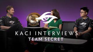 Team Secret Interview with Kaci - The International 2019