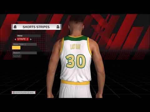NBA 2K18 My League Seattle Sonics Customization