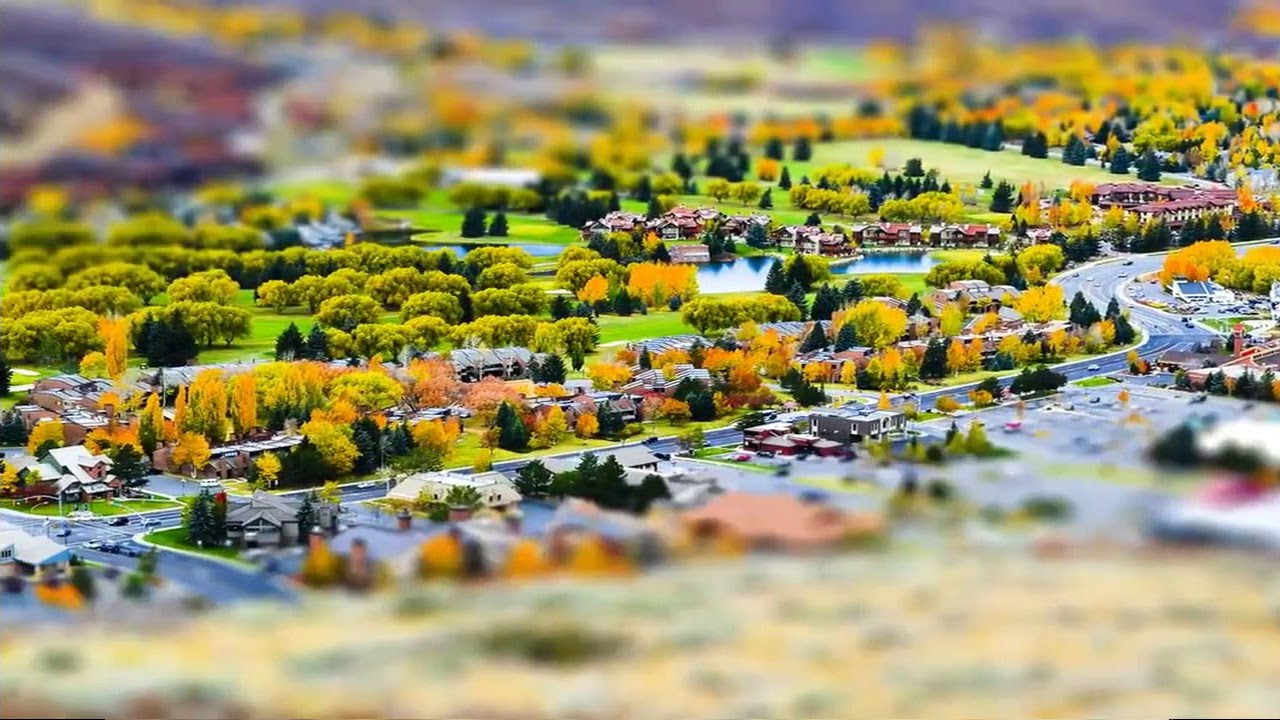 Tilt-Shift Video of Park City, Utah