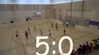 preview picture of video 'Vienna vs. MFFV ASKÖ 23, 10 Jahre MFFV ASKÖ 23, 25.01.2015, U12-Mädchen'