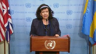 Security Council President on Yemen & South Sudan - Media Stakeout (10 August 2018)