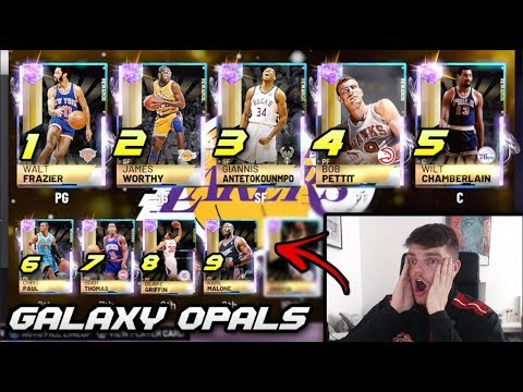USING 9 GALAXY OPALS IN THE SAME SQUAD IN NBA 2K19 MyTEAM!! *BEST TEAM IN 2K19*