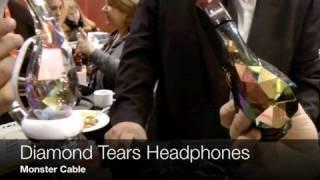 Monster Diamond Tears - Edge Diamondz Headphones at CES 2012