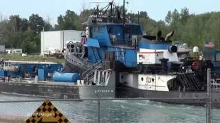 Tug SPARTAN propelling barge SPARTAN II on Welland Canal