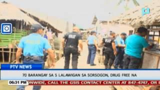 70 barangay sa limang lalawigan sa Sorsogon, drug-free na